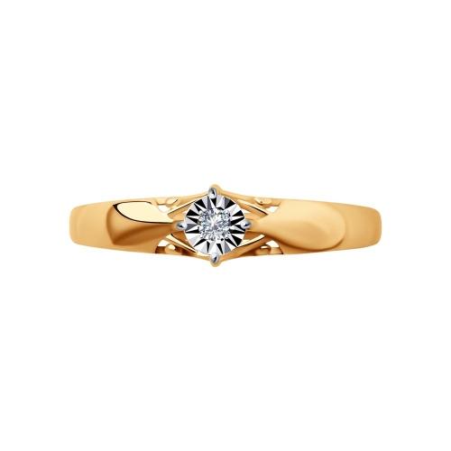 Кольцо из золота c бриллиантом_2 1011159 15333.30 ₽