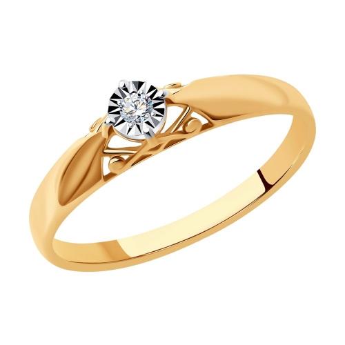 Кольцо из золота c бриллиантом_0 1011159 15333.30 ₽