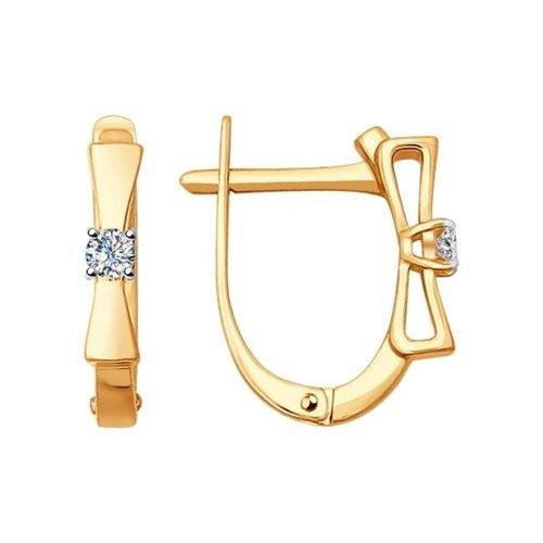 Золотые серьги Бантики с бриллиантами_0 1020898 23390.10 ₽