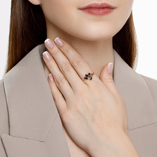 Кольцо из золота с синими корундами_1 715432 7511.45 ₽
