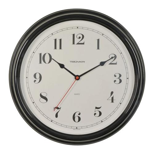 Часы настенные Troyka 88880886, круг, белые, черная рамка, 31х31х4,5 см_0 454242 609.59 ₽