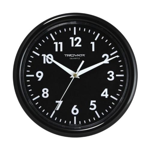 Часы настенные Troyka 21200204, круг, черные, черная рамка, 24,5х24,5х3,1 см_0 452272 362.99 ₽