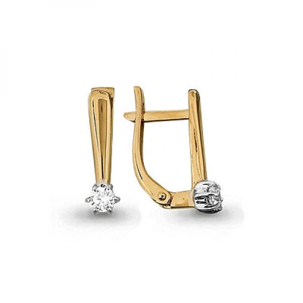 Золотые серьги с бриллиантом_0 T-24272 52219.90 ₽