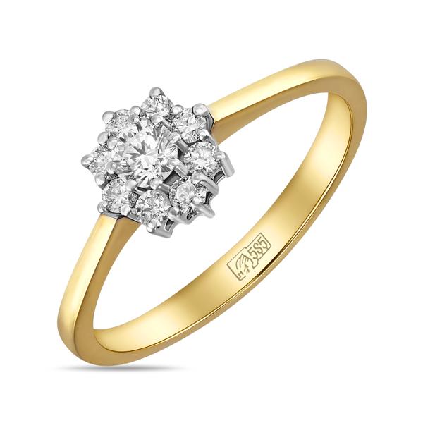 Кольцо из желтого золота c бриллиантами_0 T-30092 65838.56 ₽