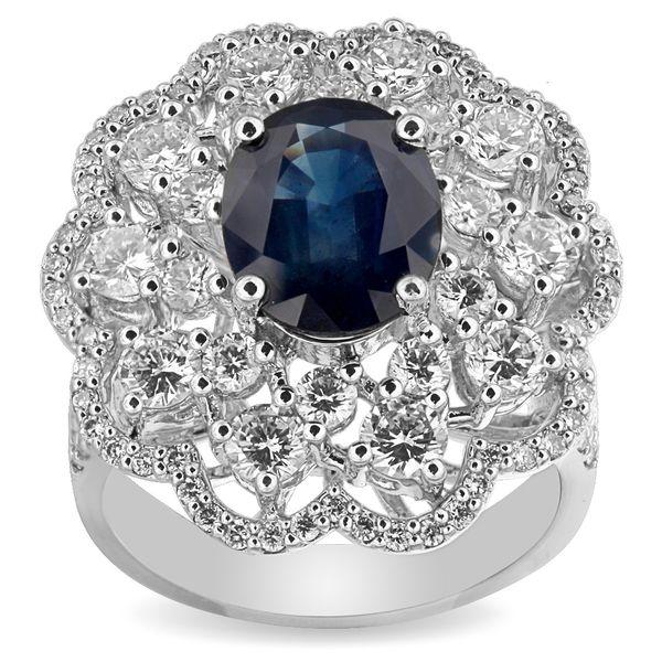 Кольцо с сапфиром и бриллиантами из белого золота_1 T-40119 553608.61 ₽