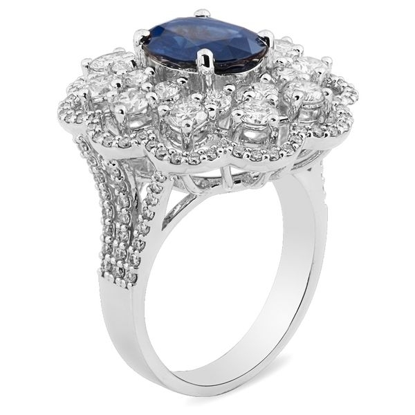 Кольцо с сапфиром и бриллиантами из белого золота_2 T-40119 553608.61 ₽