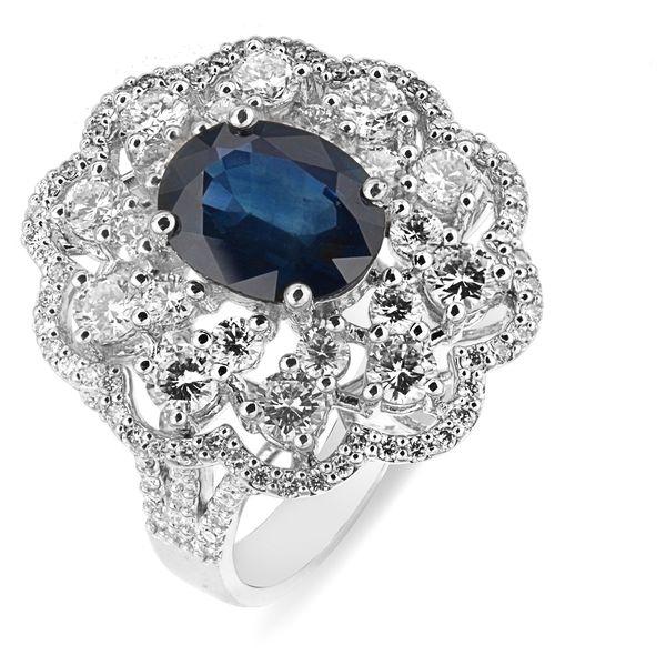 Кольцо с сапфиром и бриллиантами из белого золота_0 T-40119 553608.61 ₽