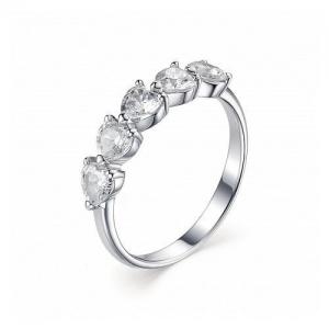 Женское кольцо из серебра с цирконием