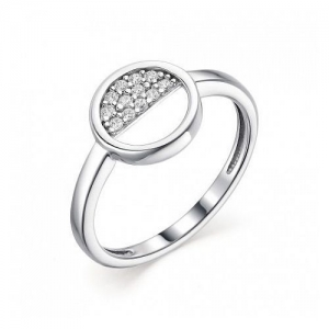 Женское кольцо из серебра с фианитом
