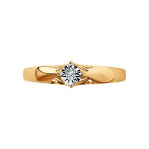 Кольцо из золота c бриллиантом