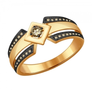 Золотое кольцо с коньячными бриллиантами CRUISE