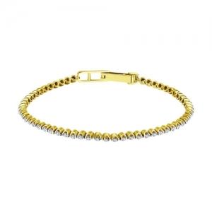 Браслет из желтого золота с бриллиантами
