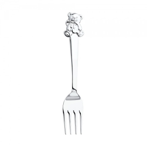 Позолоченная вилка для детей «Мишутка»