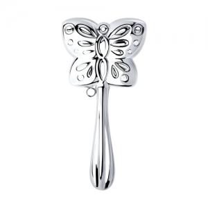Погремушка из серебра «Бабочка»