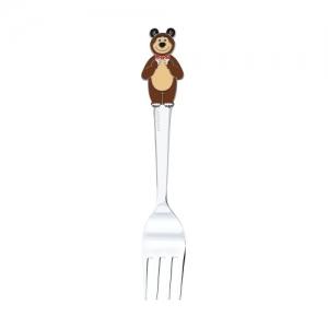 Детская серебряная вилка «Маша и Медведь»