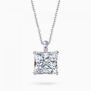 Платиновая подвеска Классика с бриллиантом