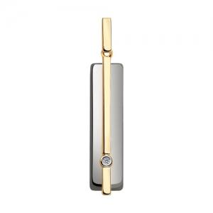 Подвеска из золота с бриллиантом и керамическими вставками
