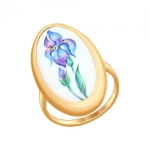 Золотое кольцо Ирис (Финифть)