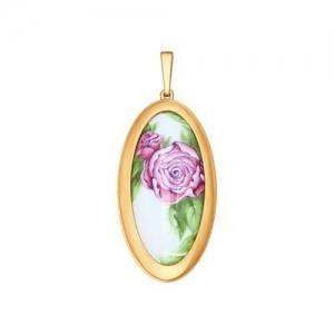 Золотая подвеска Цветы без камней