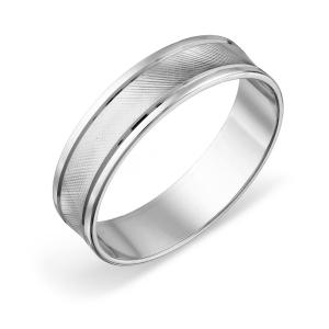 Кольцо обручальное из белого золота
