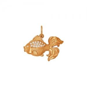 Подвеска в форме золотой рыбки