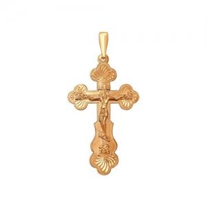 Крест из золочёного серебра с гравировкой