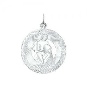 Подвеска из серебра с алмазной гранью