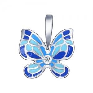 Яркий кулон с бабочкой