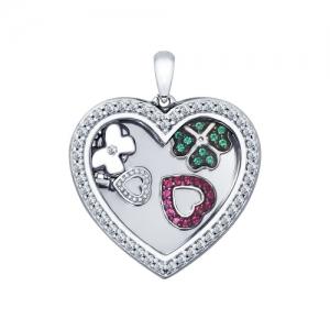 Подвеска из серебра Сердце