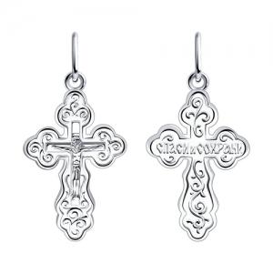Широкий крест из серебра