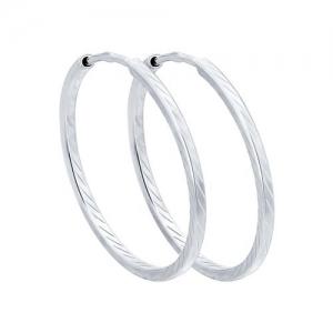 Серьги конго из серебра с алмазной гранью диаметр 50 мм