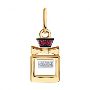 Подвеска из золота с бриллиантами и рубинами