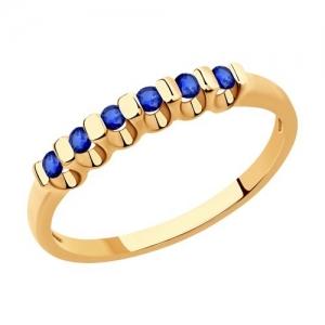 Кольцо из золота с сапфирами