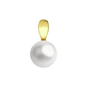 Подвеска из желтого золота с жемчугом