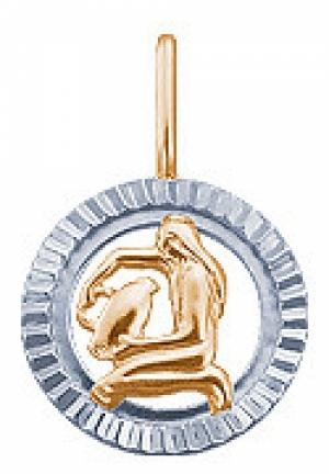 Золотая подвеска «Водолей»