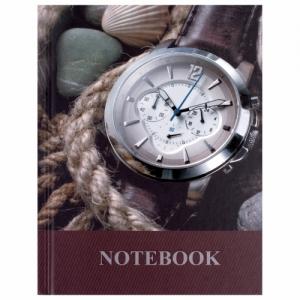 """Блокнот (110х147 мм) А6, 80 л., ламинированная обложка, выборочный лак, клетка, """"Время"""""""