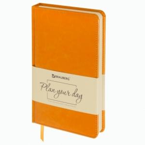 "Ежедневник недатированный А5 (138х213 мм) ""Imperial"", 160 л., кожзам, оранжевый"