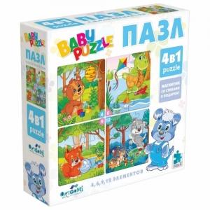 """Пазл Baby Puzzle """"Для мальчиков"""", 4 в 1, 4-6-9-12 элементов"""