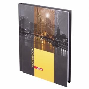 """Блокнот (110х147 мм) А6, 80 л., ламинированная обложка, выборочный лак, клетка, """"Ночной город"""""""