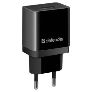Зарядное устройство сетевое (220 В) Defender UPA-21, 1 порт USB, выходной ток 2,1 А, черное