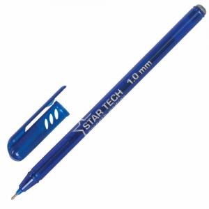 Ручка шариковая масляная PENSAN Star Tech, синяя, игольчатый узел 1 мм, линия 0,8 мм