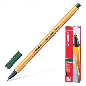 """Ручка капиллярная (линер) STABILO """"Point 88"""", цвет травы, корпус оранжевый, линия письма 0,4 мм"""