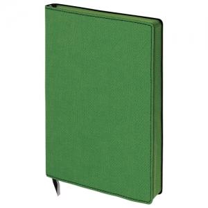 "Блокнот А5 (148x213 мм), ""Tweed"", 112 л., гибкий, под ткань, линия, темно-зеленый"
