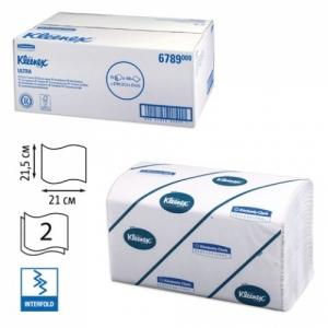 Полотенца бумажные 186 шт., Kimberly-Clark Kleenex, комплект 15 шт., Ultra, 2-х слойные, белые, 21х21,5 см