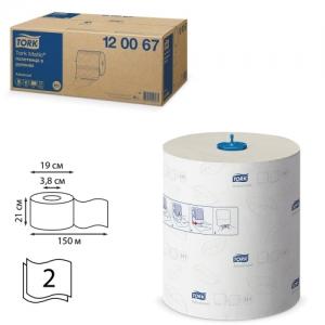 Полотенца бумажные рулонные Tork (Система H1) Matic, комплект 6 шт., Advance, 150 м, 2-слойные, белые