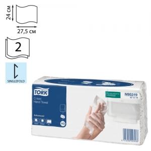 Полотенца бумажные (1 пачка 120 листов) Tork (H3) Advance, 2-слойные, белые, 24х27,5, С-сложение