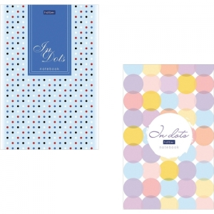 """Блокнот А5 (146х205 мм) 50 л., склейка, ламинированная бумага, в точку Premium, """"Dots"""""""
