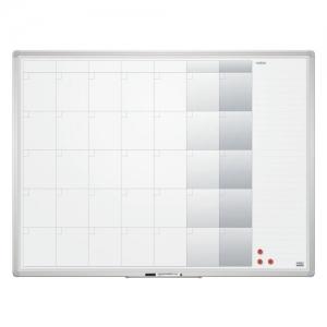 Доска-планинг на месяц магнитно-маркерная 90x120 см, алюминиевая рамка, 2х3 office