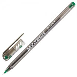"""Ручка шариковая масляная PENSAN """"My-Tech"""", зеленая, игольчатый узел 0,7 мм, линия 0,35 мм"""