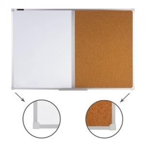 Доска комбинированная: магнитно-маркерная, пробковая для объявлений 60х90 см